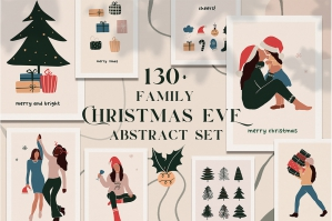 Christmas Eve - Abstract Family Set