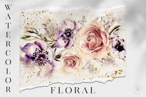 Watercolor Floral Art Vol.4