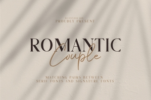 Romantic Couple Font Duo