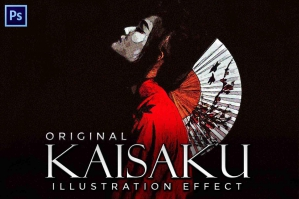 Kaisaku - A Halftone Illustration Effect
