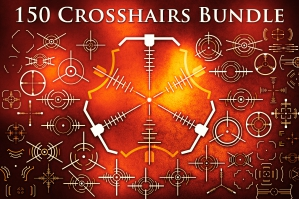 Crosshair Bundle (SVG/PNG/EPS/Brushes)