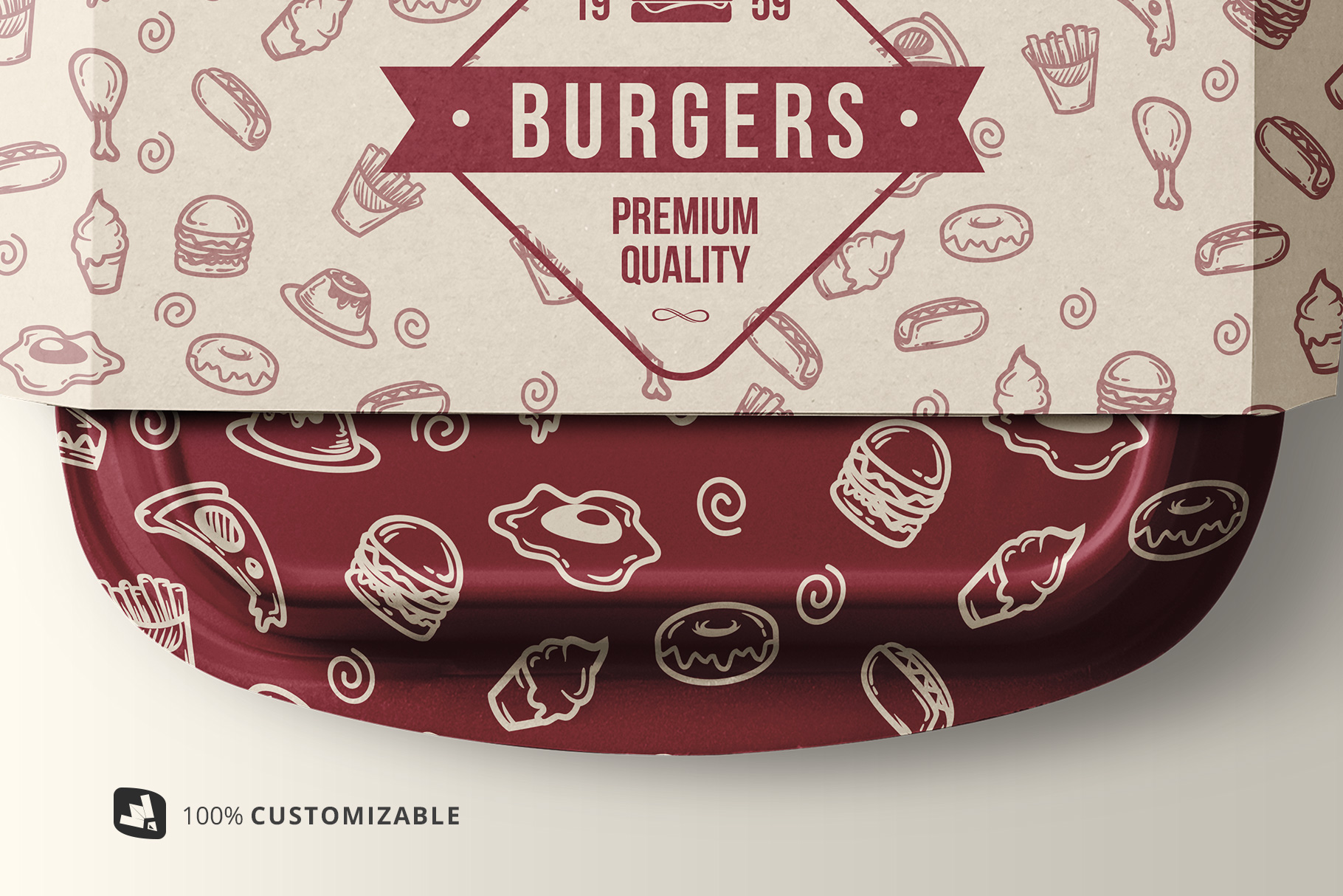 Fast Food Container Packaging Mockup