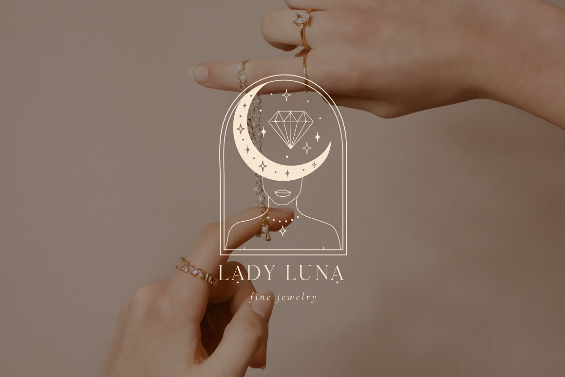 Lady Luna Pre-Made Brand Logo Designs