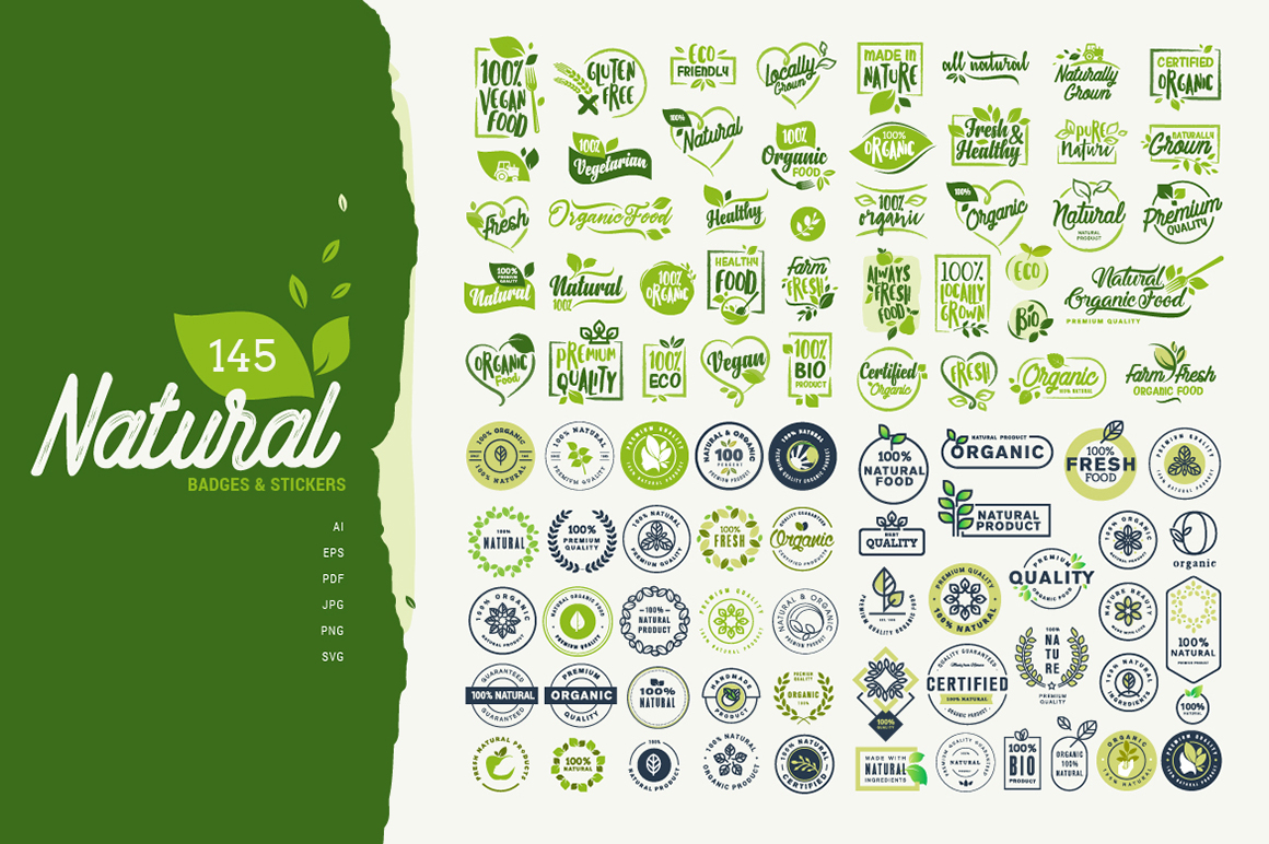 Natural Badges and Stickers