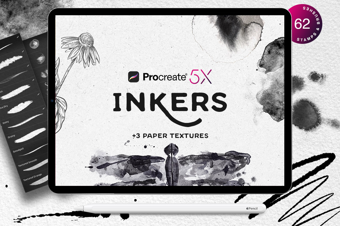 Procreate Inkers + Papers