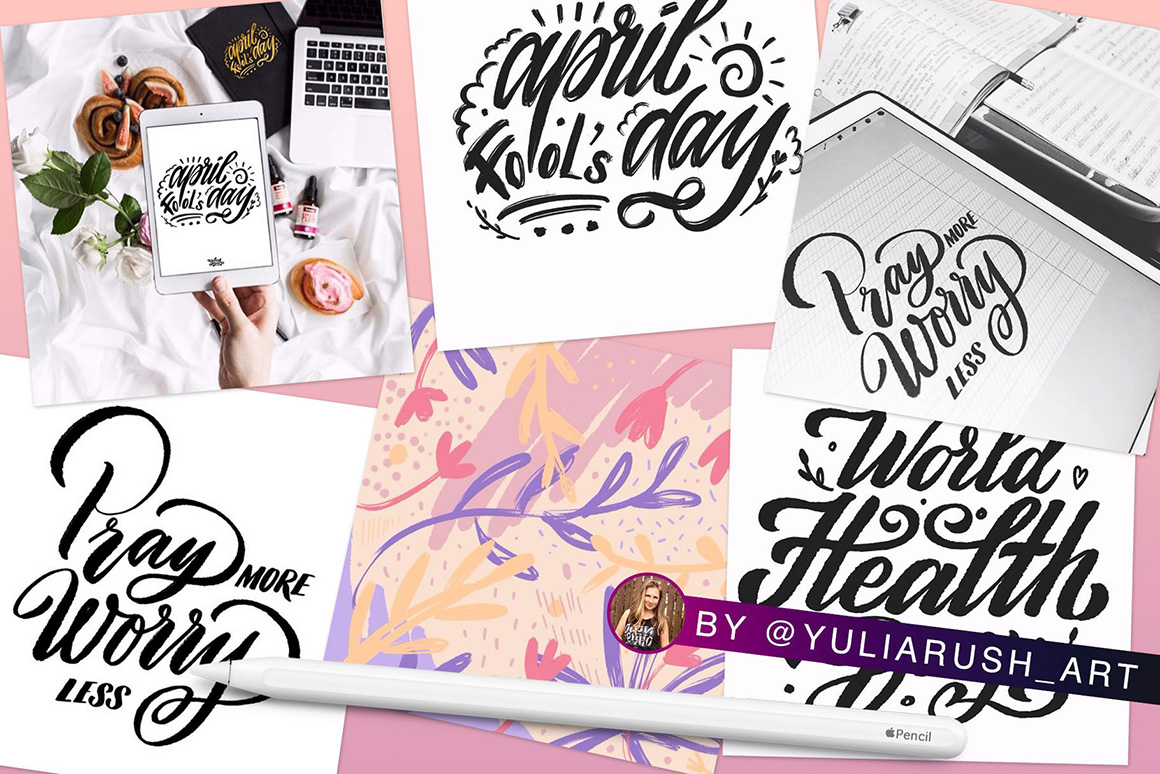 Procreate Lettering Brushes Pack