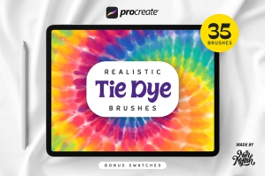 Procreate Realistic Tie Dye Brushes