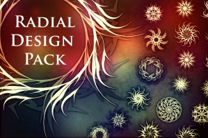 Radial Design Pack (Brushes, Patterns, Shapes, JPG, PNG)