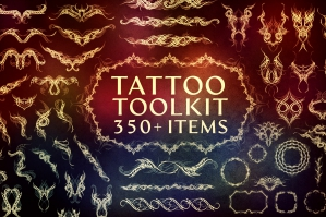 Tattoo Toolkit (Vector, .PNG, Brushes)