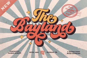 The Bayland - Retro Font