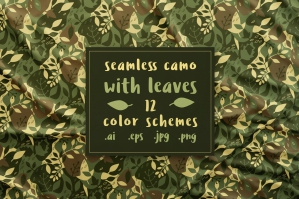 Seamless Camouflage with Leaves