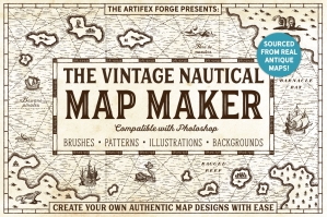 The Vintage Nautical Map Maker - Photoshop