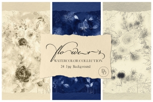 Watercolor Floral Collection Vol.1