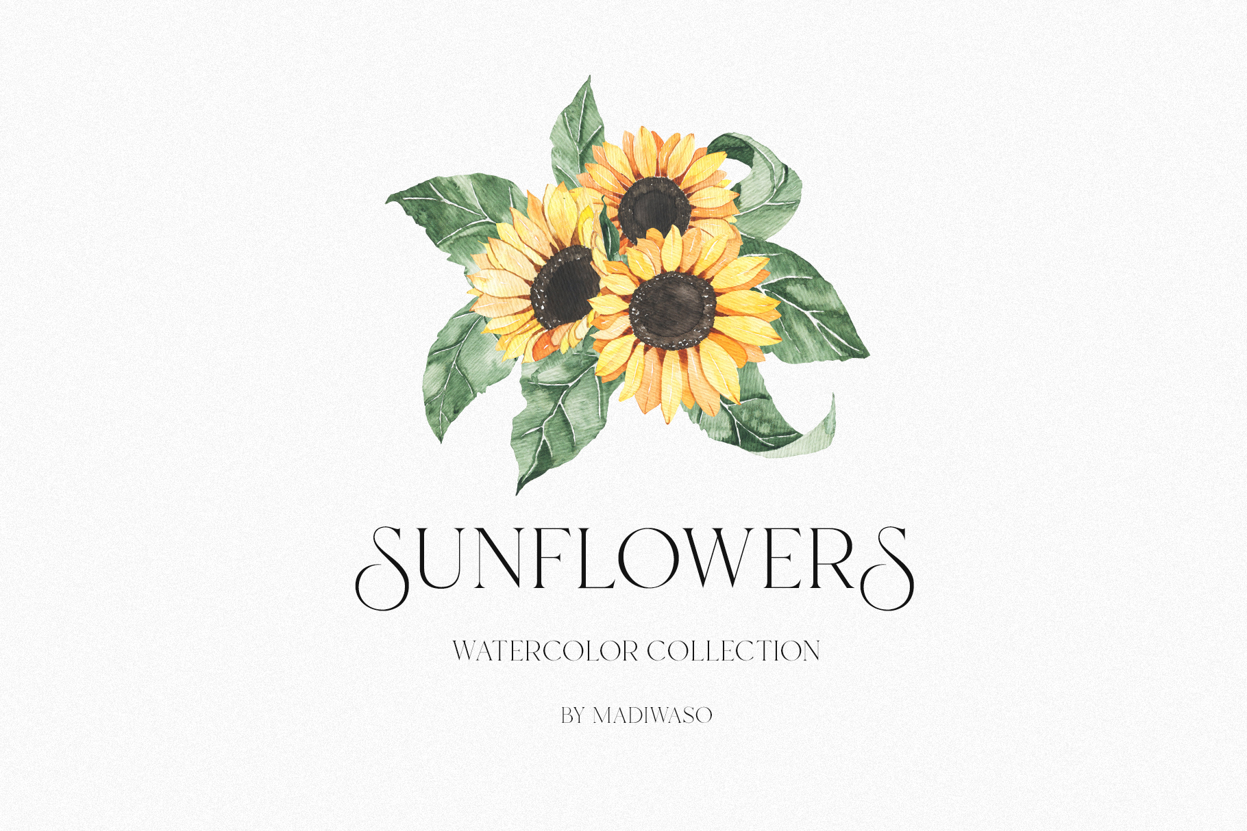 Watercolor Sunflowers Collection