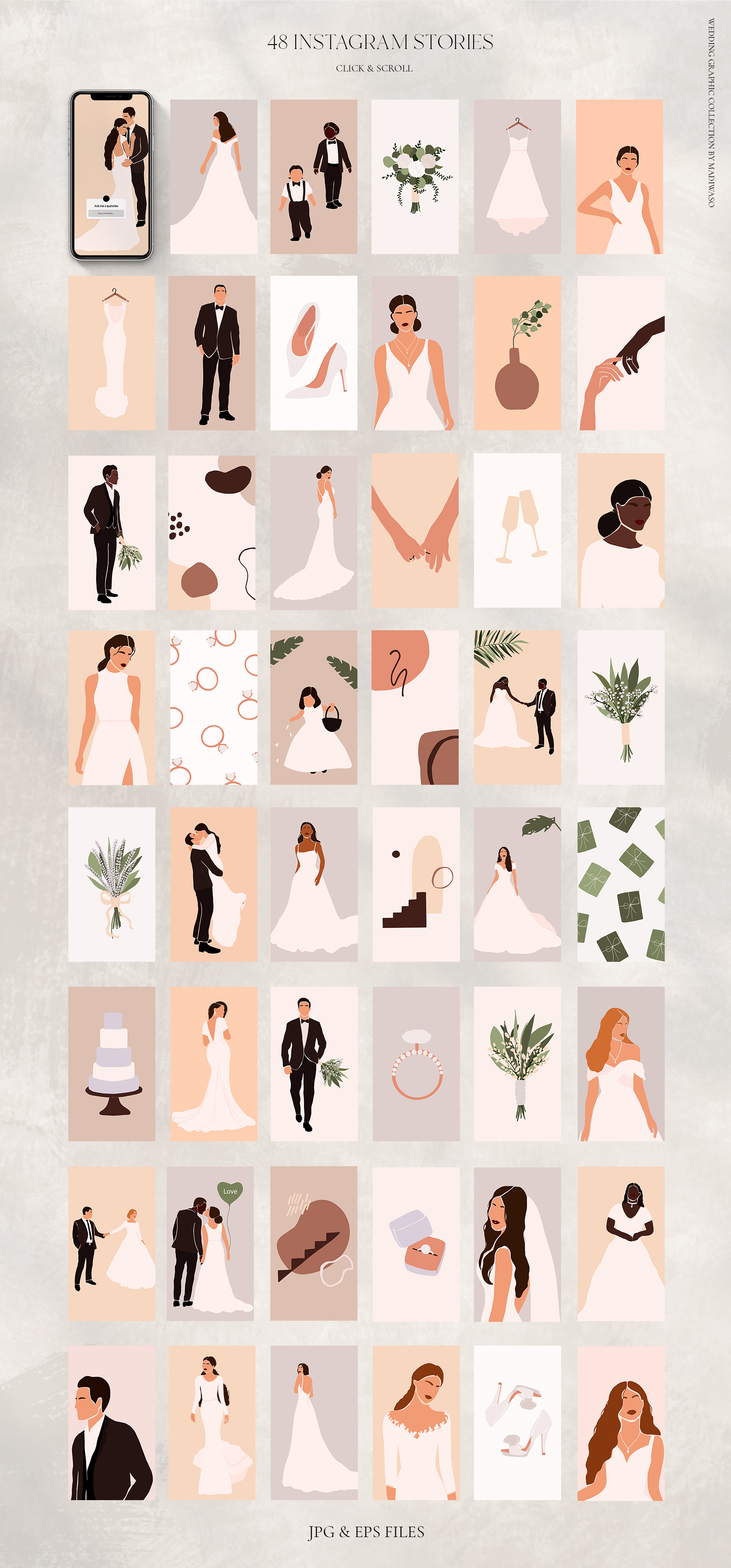 Wedding Abstract Graphic Collection