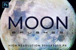 32 Planetary Moon Brushes