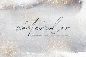 Abstract Watercolor Glitter Collection