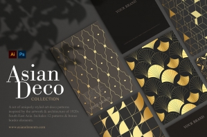 Asian Deco: Seamless Art Deco Patterns Collection