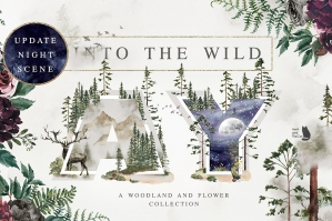 Into The Wild - Woodland and Flower Collection