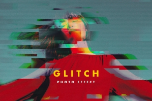 RGB Glitch Photo Effect