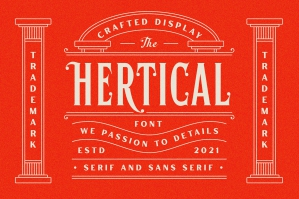 Hertical - Crafted Display Font