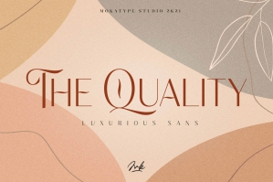 The Quality - Luxurious Display Sans