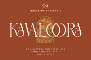 Kavaloora - Stylish Ligatures Serif