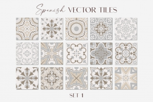 Spanish Charm - Vector Tiles Set 1