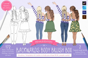 Backwards Body Brush Box – Procreate Stamp Brushes