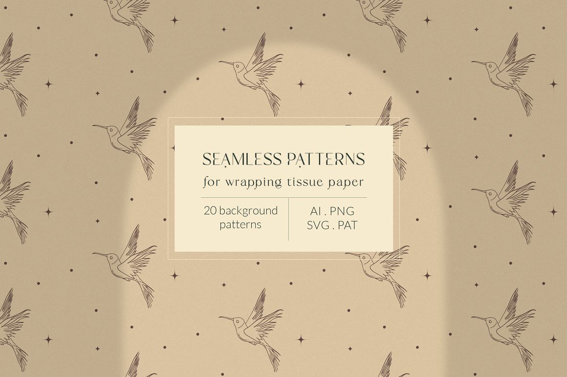 Bohemian Modern Patterns Collection - Wrapping