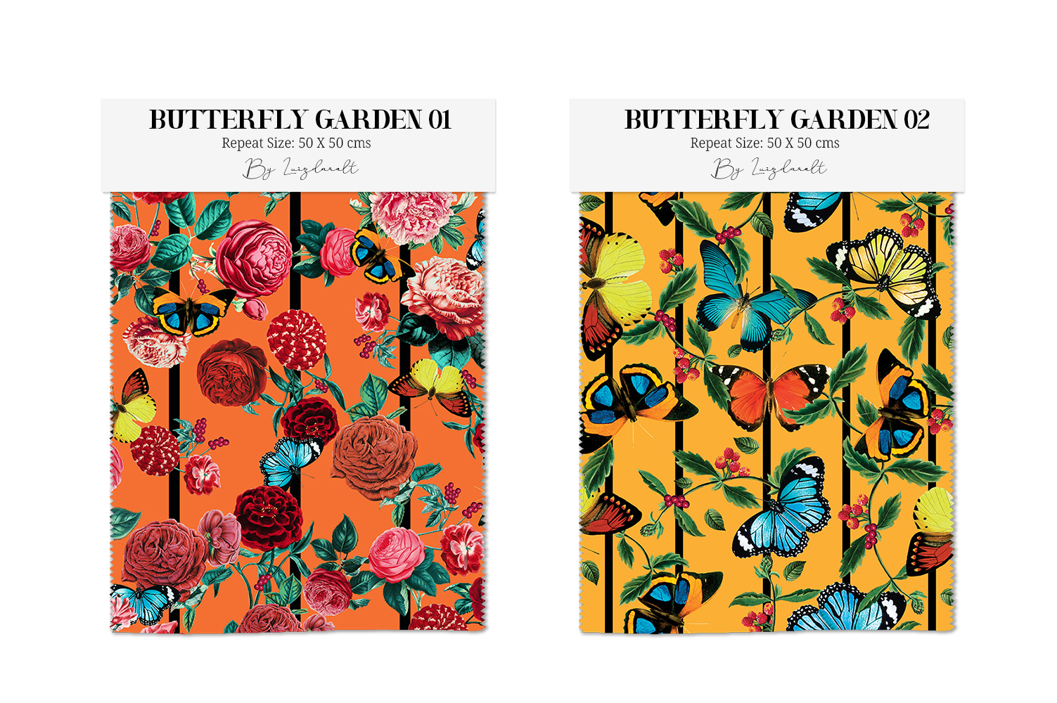 Butterfly Pattern Vintage & Roses Seamless