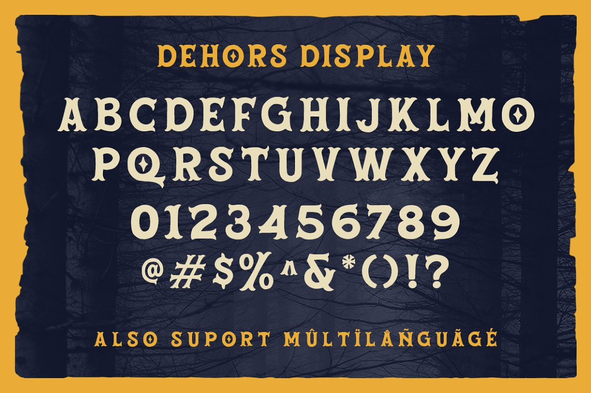 Dehors - Western Display Typeface