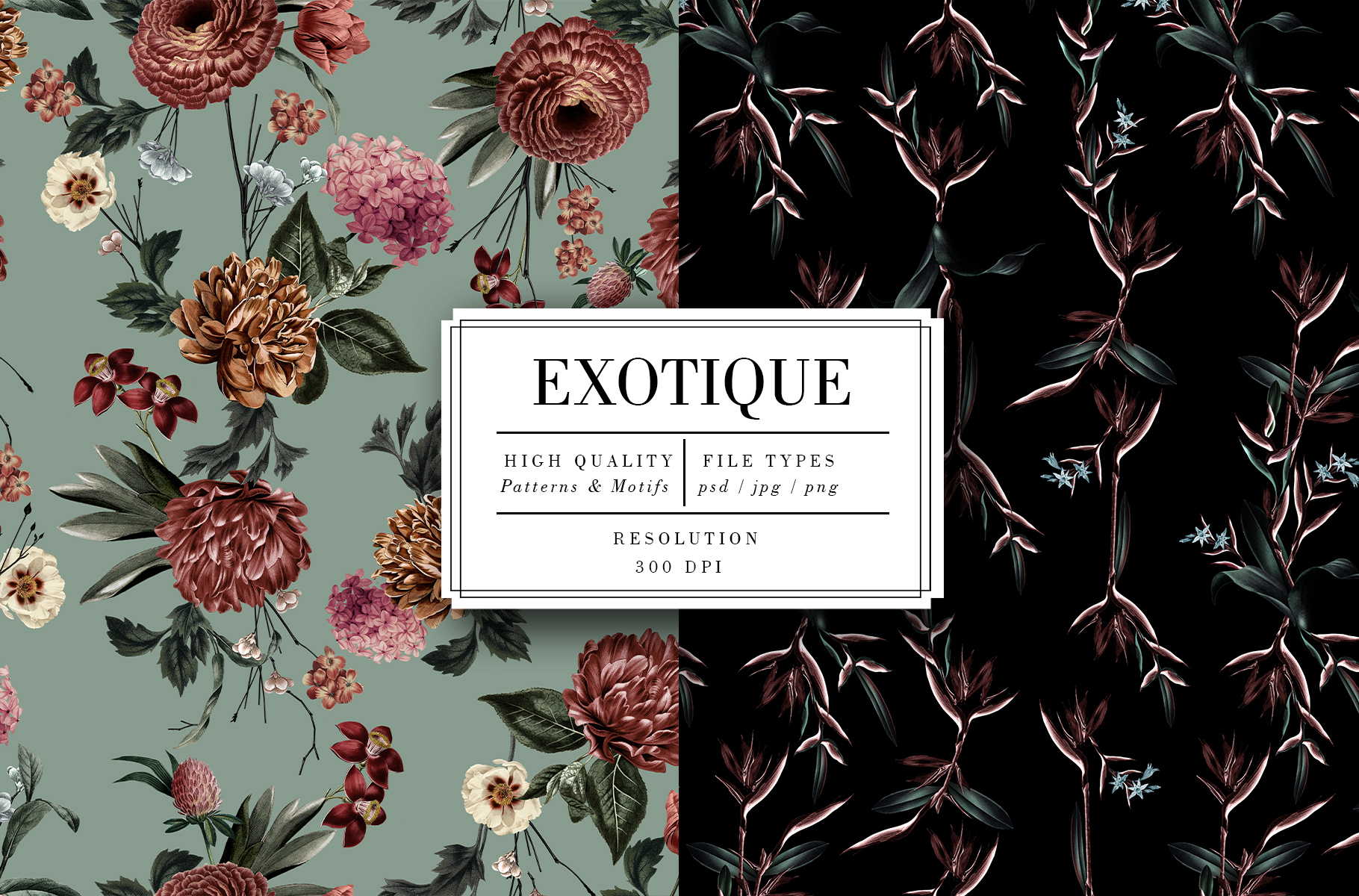 Fabric Pattern Seamless Floral Exotique