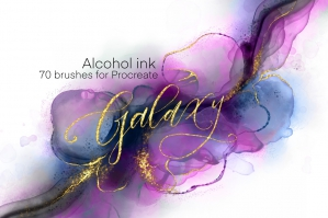 Galaxy Alcohol Ink Brushset