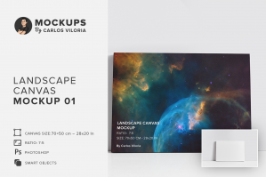 Landscape Canvas Ratio 7×5 Mockup 01