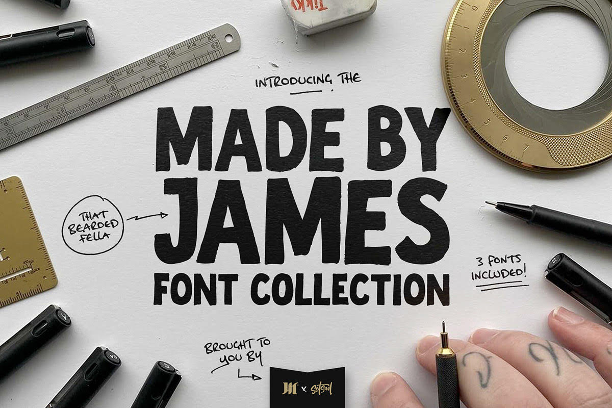 Made By James Font Collection
