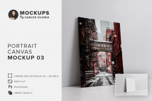 Portrait Canvas Ratio 5x7 Mockup 03