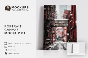 Portrait Canvas Ratio 5x7 Mockup 01