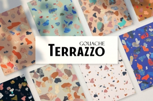 Terrazzo Seamless Pattern Collection