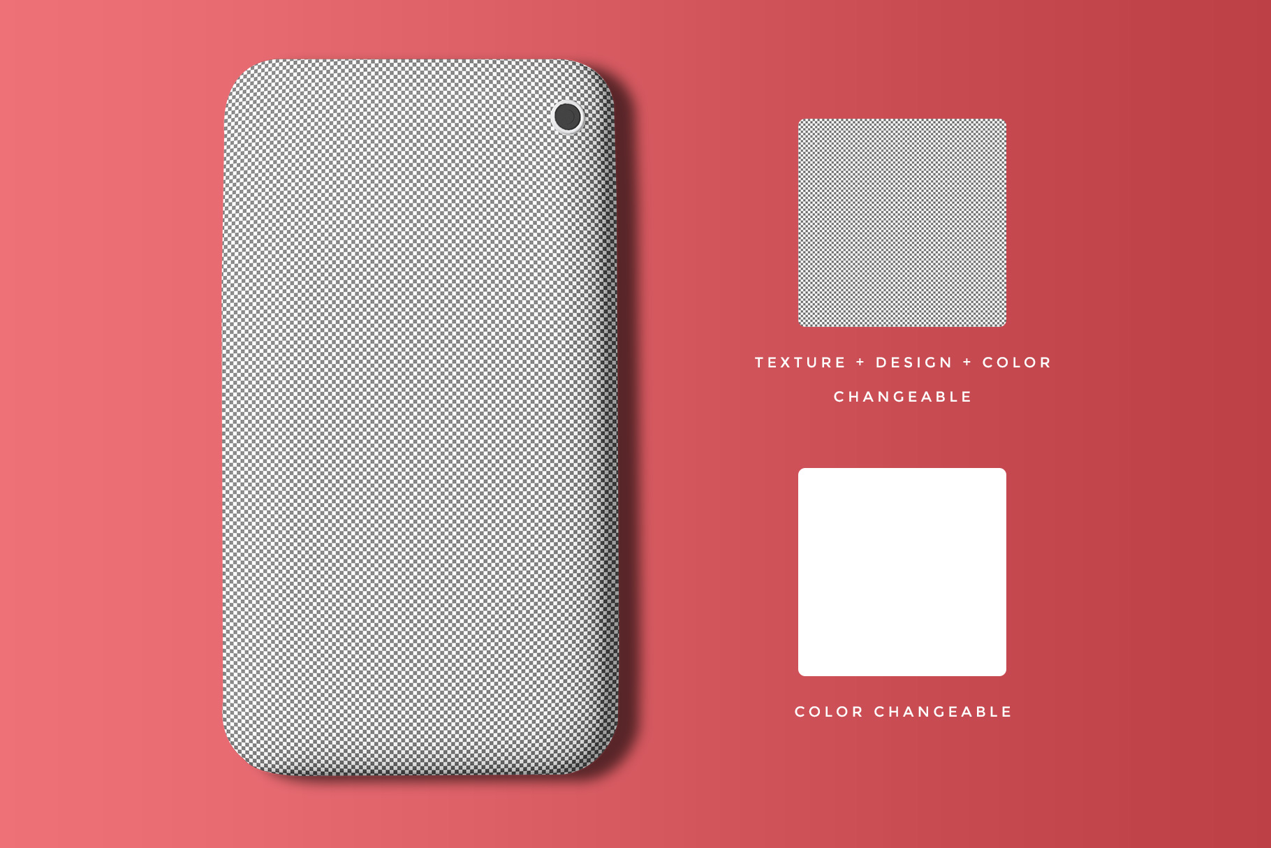 Top View Smart Phone Back Cover Mockup
