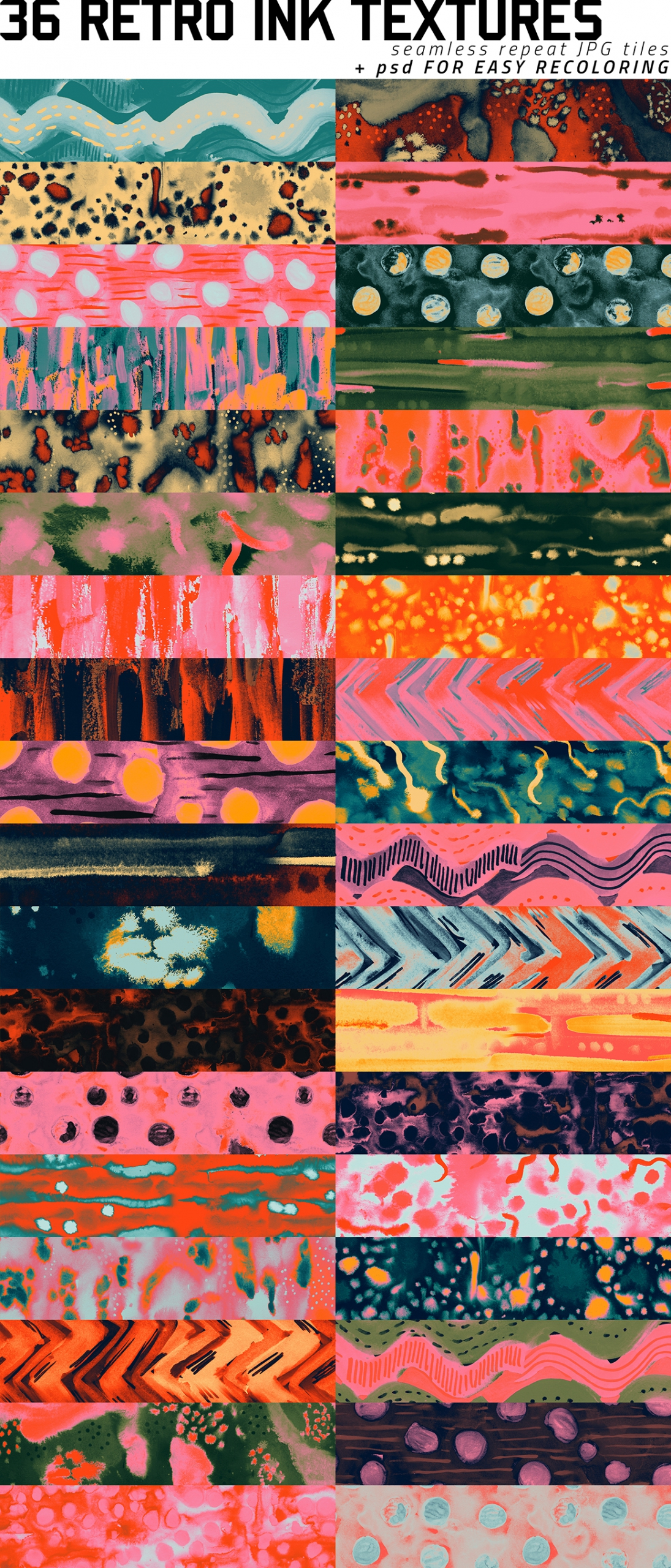 Vivid And Vibrant Ink Textures