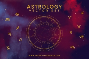 Astrology Vector Set & Birth Chart