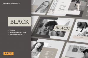 Black Business Proposal A4 Powerpoint