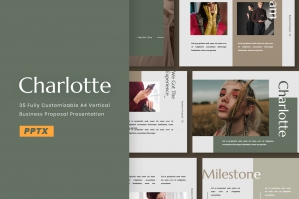 Charlotte A4 Powerpoint Presentation Template