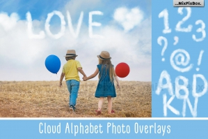 Cloud Alphabet Photo Overlays