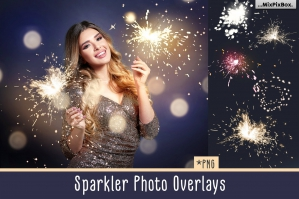 Sparkler Photo Overlays