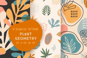 Plant Geometry - Seamless Patterns