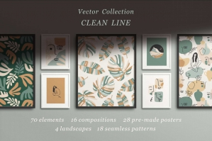 Clean Line - Vector Collection
