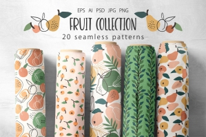 Fruit Collection - 20 Patterns