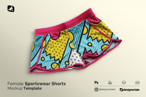 Female Sportswear Shorts Mockup